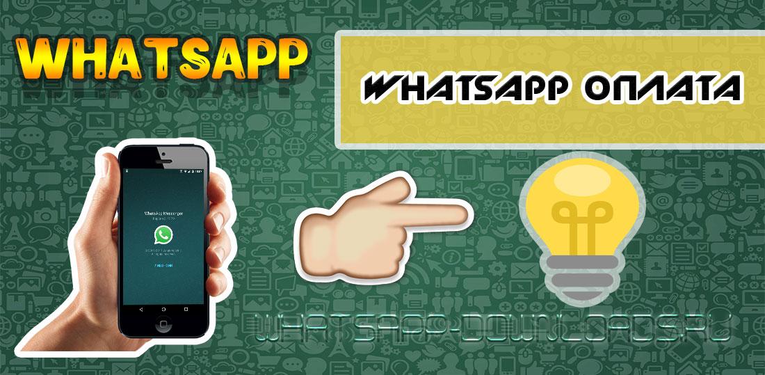 WhatsApp оплата.