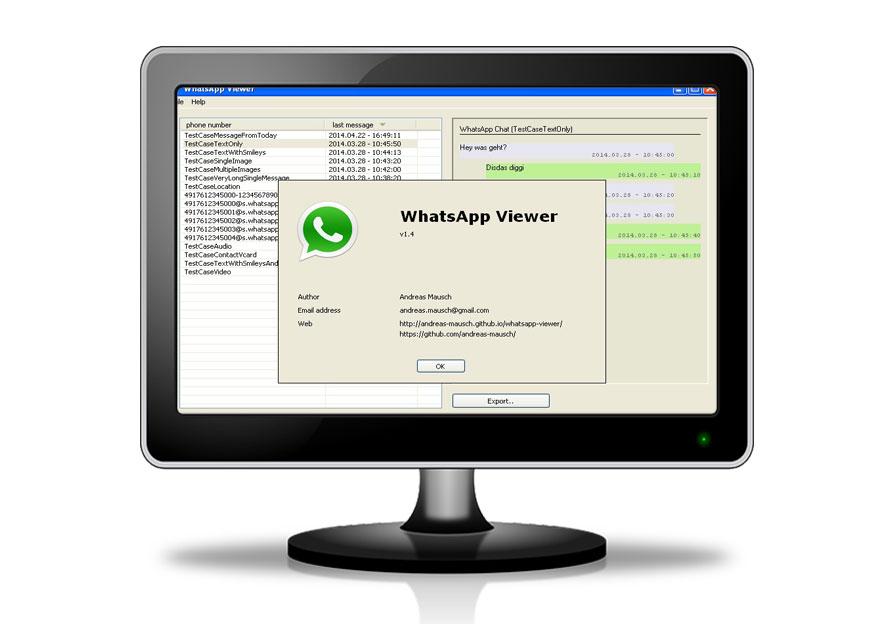WhatsApp viewer